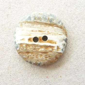 CP34-40L Natural Stone Coat 25mm Buttons x 10