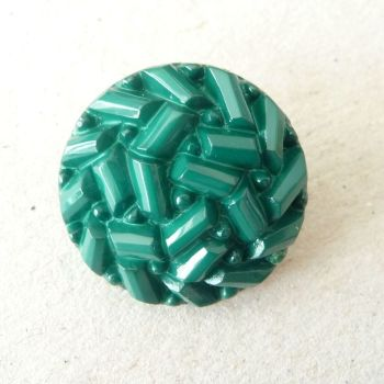 TCS17-D-36L Green Faux Beaded 23mm Buttons x 10