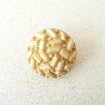 TCS17-E-24L Yellow Ochre Faux Beaded 15mm Buttons x 10