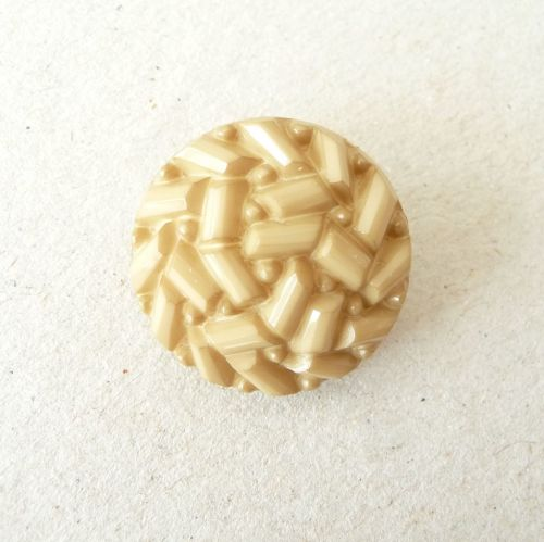 TCS17-E-28L Yellow Ochre Faux Beaded 18mm Buttons x 10