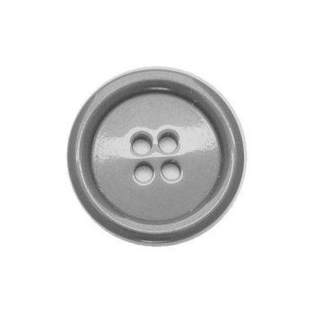 P975-99-24L Grey Coat 15mm Buttons x 10