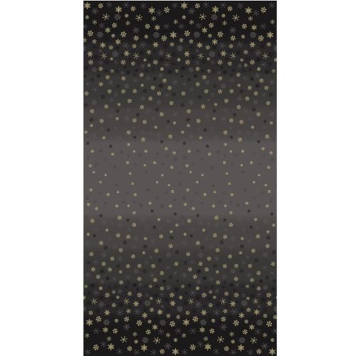 2248X Metallic Ombre Snowflake Black Christmas Cotton Quilting Fabric
