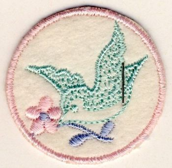 M008 Bird & Flower Motif
