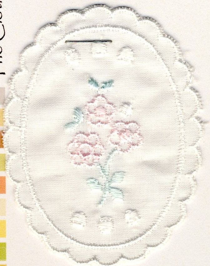 M013 Embroidered Floral Motif