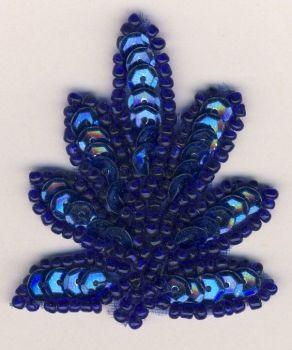 SM1 -sml Royal Sequin Leaf - Royal Motif