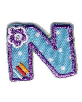 LET-N Iron On Letter N Motif