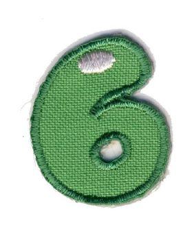 LET-6  Iron On Number 6 Motif