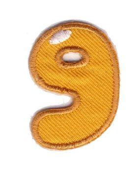 LET-9  Iron On Number 9 Motif