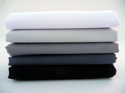 FQB1 Fat Quarter Bundle - White/Grey/ Black