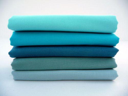 FQB10 Fat Quarter Bundle Turquoise - Vintage Blue