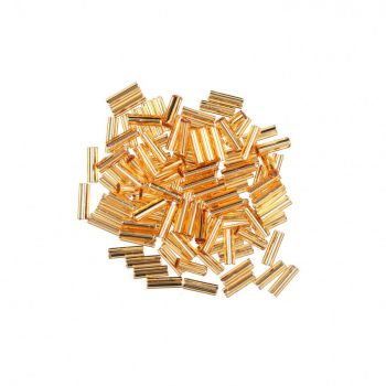 72011 Victorian Gold Small Mill Hill Glass Bugle Beads