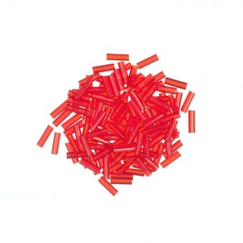 72013 Red Red Small Mill Hill Glass Bugle Beads