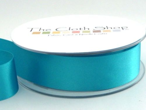Double Satin Ribbon Turquoise 3501-4