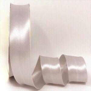 Rich Silver Grey Satin Bias Binding Q11-35
