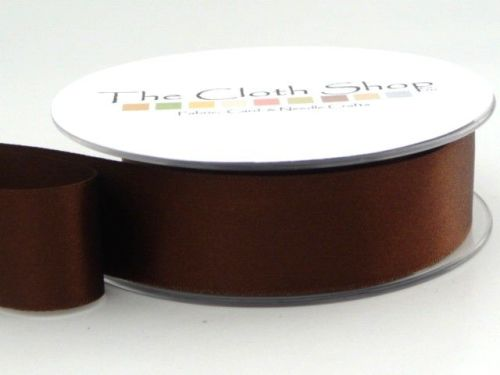 Double Satin Ribbon Dark Brown 3501-25