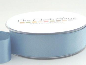 Double Satin Ribbon Dusky Blue 3501-61