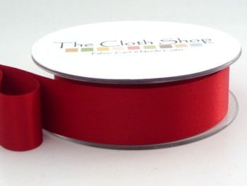 Double Satin Ribbon Scarlet Berry Red 3501-908