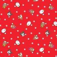 2366R Yappy Christmas - Heads - Red