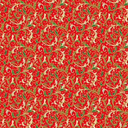 2373R - Decorative Swirls - Red