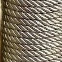 Lurex Cord - Silver 7mm