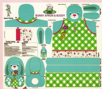 Childrens Bunny Apron Sewing Kit