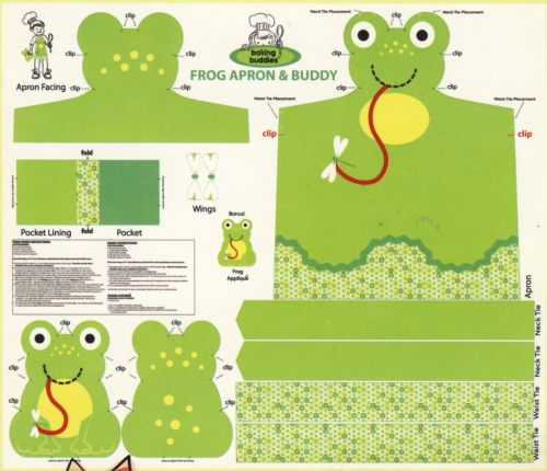 Childrens Frog Apron Sewing Kit