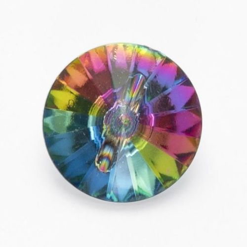 G636-13 Multicoloured Gem Button - 13mm