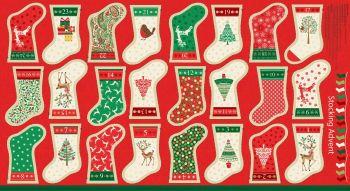 1798 Christmas Stockings Advent Calendar Bunting