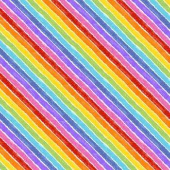 NEW - 9831L Rainbow Bias Stripe