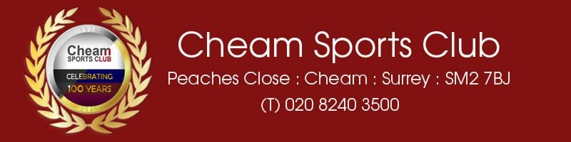 Cheam Sports Club, site logo.