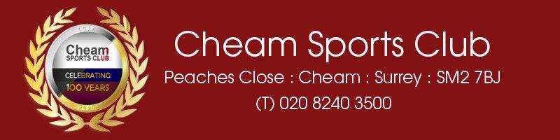 Cheam Sports Club, site logo.