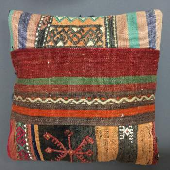 Cushion multicoloured patchwork