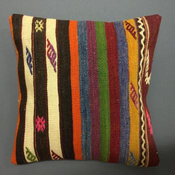 Cushion multicoloured with bright pink