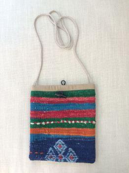 Bag - red/green/blue stripe