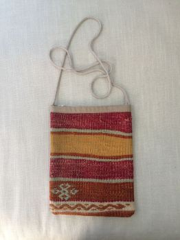 Bag - mustard/red/orange stripe