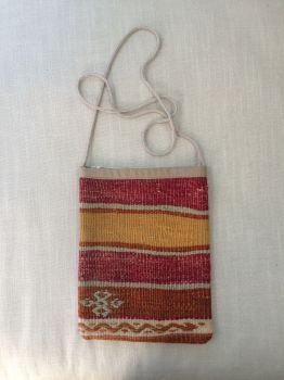Bag - mustard/red/orange stripe