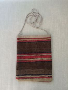 Bag - brown/red/black/natural stripe