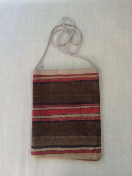 Bag - brown/red/black/natural stripe