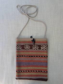 Bag - terracotta/natural/purple stripe