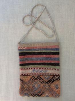 Bag - pink/blue/green/stripes & pattern