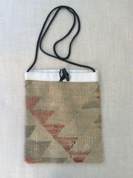 Bag - natural/green/terracotta/bunting