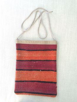 Bag - orange/red horizontal stripe