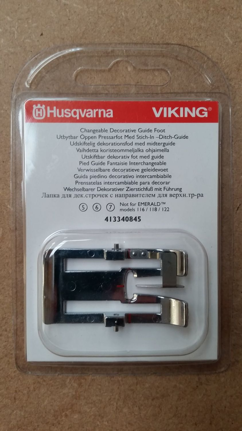 Husqvarna Viking Changeable Decorative Guide Foot 413340845
