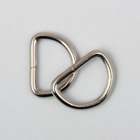 "D-Ring 25mm (1"") Silver  25 to a bag"