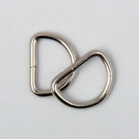 "D-Ring 25mm (1"") Silver  4 to a bag"