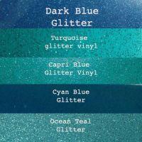 Blue Glitter Vinyl Fabric