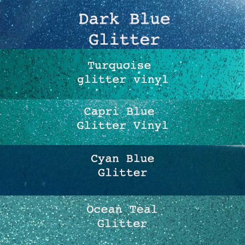 Blue Glitter Vinyl Collection