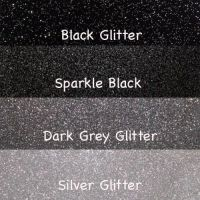 Black and Silver Glitter Vinyl Fabric