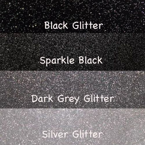 A4 Black and Silver Glitter Vinyl Collection