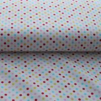 Multi Coloured White Dots Cotton Print